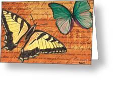 Le Papillon 3 Greeting Card by Debbie DeWitt