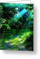Light Unto My Path Greeting Card by Thomas R Fletcher