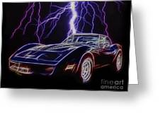 Lightning Fast Greeting Card by JohnD Smith