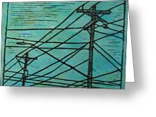 Lines Greeting Card by William Cauthern