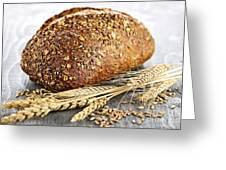 Loaf Of Multigrain Bread Greeting Card by Elena Elisseeva