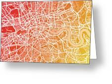 London England Street Map Greeting Card by Michael Tompsett