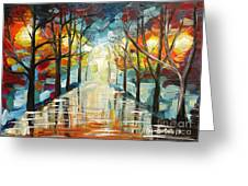 Lonely Alley Greeting Card by Denisa Laura Doltu
