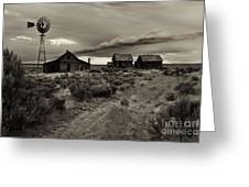 Lonely House on the Prairie Greeting Card by Mike  Dawson