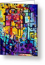 Lost Papers And Urban Plans Greeting Card by Regina Valluzzi