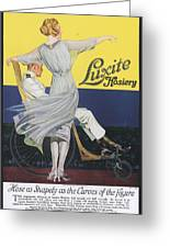 Luxite 1910s Usa Womens Hosiery Greeting Card by The Advertising Archives