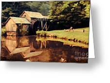 Mabrys Mill Greeting Card by Darren Fisher