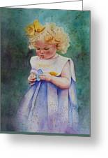 Maggie's Dandelion Greeting Card by Patsy Sharpe