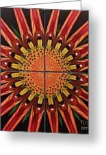 Mandala Greeting Card by Paula L