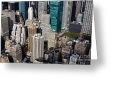 Manhattan Bryant Park Greeting Card by Jannis Werner