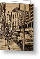 Manhattan Greeting Card by William Cauthern