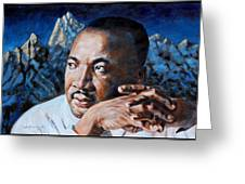 Martin Luther King Greeting Card by John Lautermilch