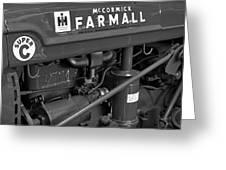 Mc Cormick Farmall Super C Greeting Card by Susan Candelario