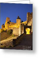 Medieval Carcassonne Greeting Card by Brian Jannsen
