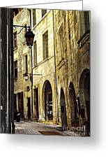 Medieval Street In France Greeting Card by Elena Elisseeva
