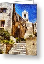 Mediterranean Steps Greeting Card by Pixel Chimp