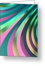 Metallic Swirls 2 Greeting Card by Hakon Soreide