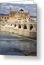 Mezquita And Roman Bridge In Cordoba Greeting Card by Artur Bogacki