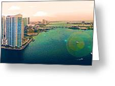 1 Miami Greeting Card by Michael Guirguis