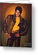 Michael Jackson Greeting Card by Paul  Meijering