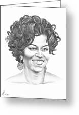 Michelle Obama Greeting Card by Murphy Elliott