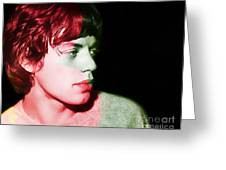 Mick Jagger Greeting Card by Marvin Blaine