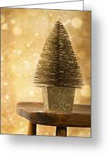 Miniature Christmas Tree Greeting Card by Amanda And Christopher Elwell