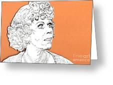 momma on Orange Greeting Card by Jason Tricktop Matthews