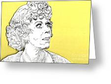 Momma On Yellow Greeting Card by Jason Tricktop Matthews