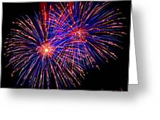 Most Spectacular Fireworks Selection - Worldwide Championship - Montreal Greeting Card by Emma Lambert
