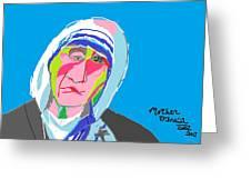 Mother Teresa Greeting Card by Anita Dale Livaditis