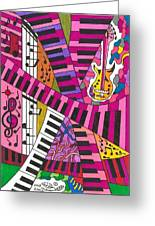 Musical Wonderland Greeting Card by Maverick Arts