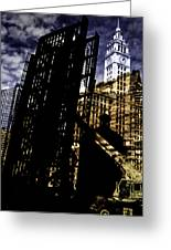 My Two Worlds Spires Greeting Card by Paul Shefferly