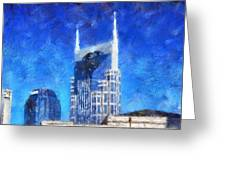 Nashville Skyline Greeting Card by Dan Sproul