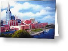 Nashville Skyline Greeting Card by Janet King