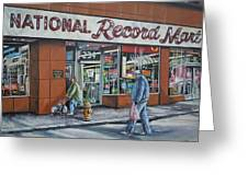 National Record Mart Greeting Card by James Guentner