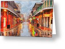 New Orleans Greeting Card by George Rossidis