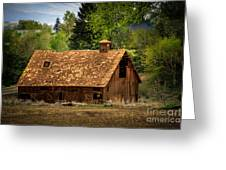 Old Barn Greeting Card by Robert Bales