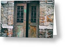 Old Italian Doorway Greeting Card by Mountain Dreams