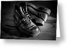Old Leather Shoes Greeting Card by Fabrizio Troiani