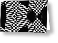 Organic Optical Illusion 4 Greeting Card by The Art of Marsha Charlebois
