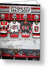 Ottawa 67's Coaches Greeting Card by Jill Alexander