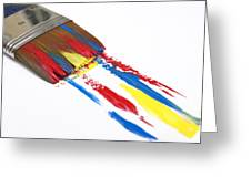 Paintbrush Greeting Card by Bernard Jaubert