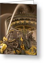 Paris Fountain Greeting Card by Brian Jannsen