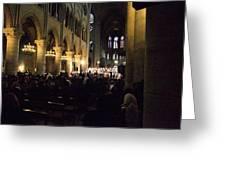 Paris France - Notre Dame De Paris - 01131 Greeting Card by DC Photographer