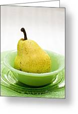 Pear Still Life Greeting Card by Edward Fielding