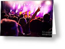People On Music Concert Greeting Card by Michal Bednarek