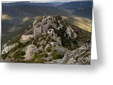 Peyrepertuse castle Greeting Card by Ruben Vicente