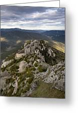 Peyrepertuse Castle Greeting Card by Ruben Vicente