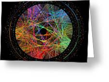 Pi Transition Paths Greeting Card by Martin Krzywinski